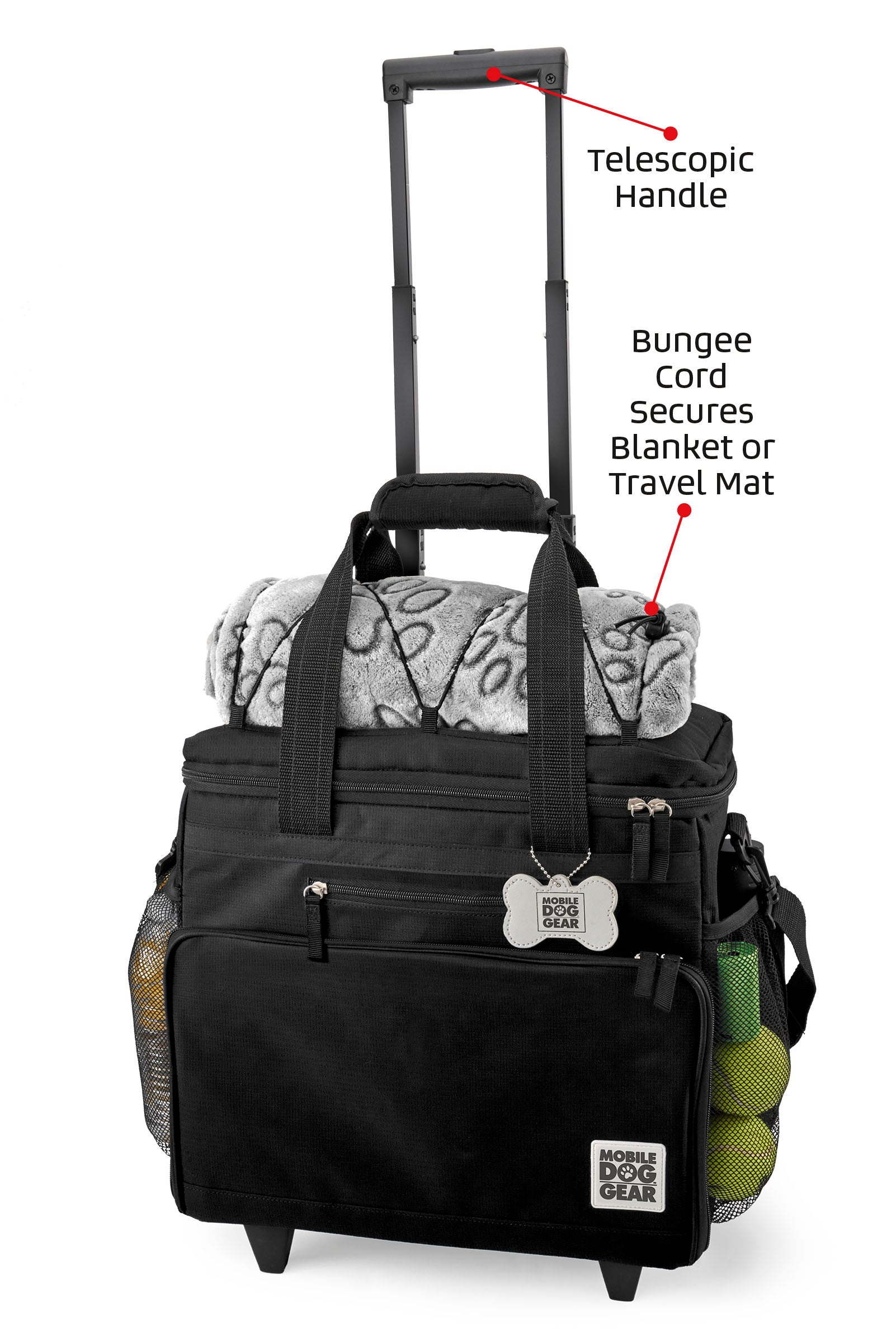 Bundle: ODG Day/Night Walking Bag (Black), ODG Rolling Week Away Bag