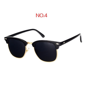 YOOSKE Classic Polarized Sunglasses Men Women Retro Brand Designer Sun Glasses Female Male Fashion Mirror UV400 Sunglass
