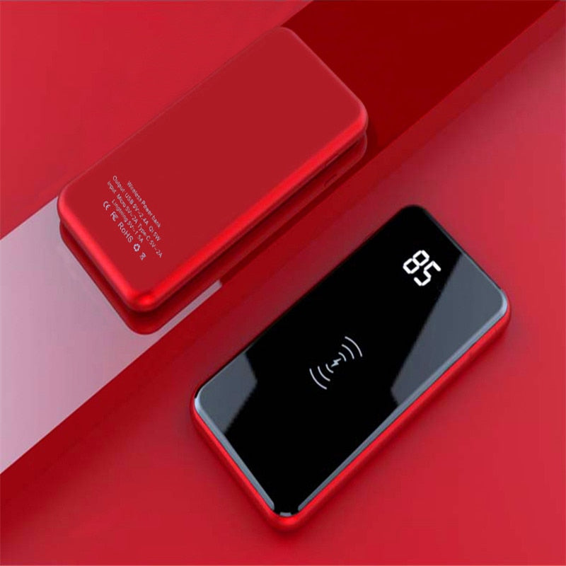 New 30000mAh QI Wireless Charger Power Bank