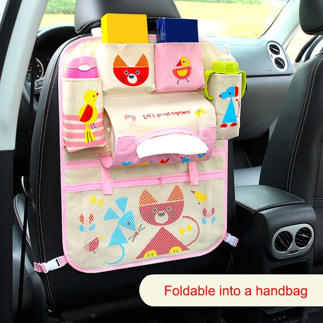 Cartoon Car Seat Back Storage, Hang Bag Organizer