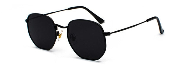 Kachawoo vintage gold sunglasses men square metal frame silver brown black small sun glasses female unisex summer style