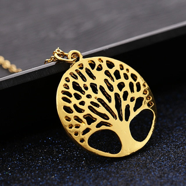 2019 Popular Tree of Life Round Pendant Necklace earrings set