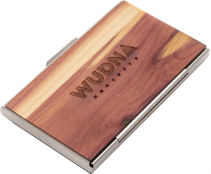 Customizable Wooden Business Card Holder