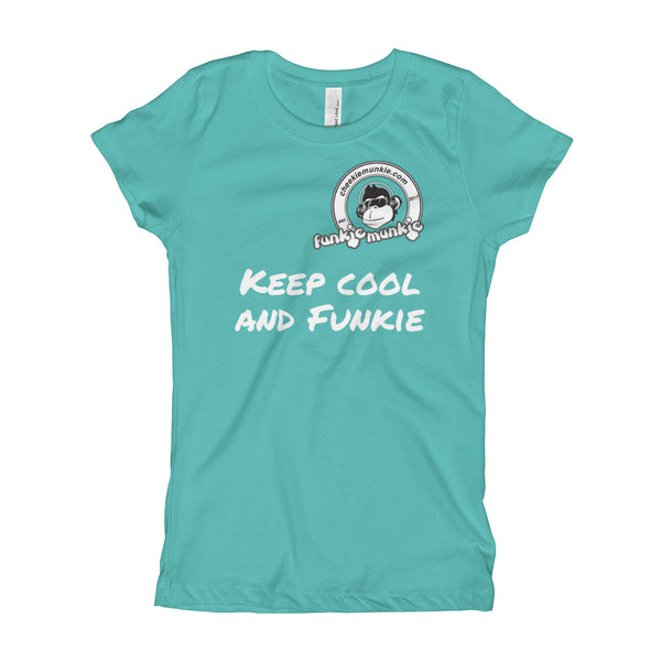 Funkiemunkie Girl's T-Shirt (Keep cool and Funkie)