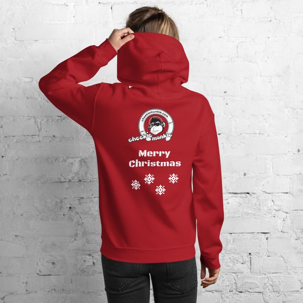 Christmas Unisex Cheekiemunkie Hoodie (Logo on Front and Back)