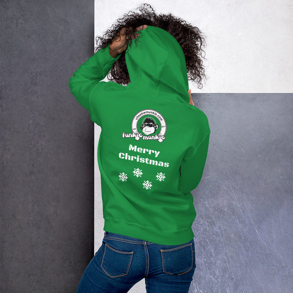 Christmas Unisex Funkiemunkie Hoodie (Logo on Front and Back)