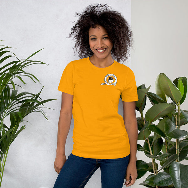 Cheekiemunkie Short-Sleeve Unisex T-Shirt (Front and back logo)