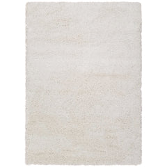 Cozy Optimum Quality 1.6 inch think Solid Ivory Shag Area Rug