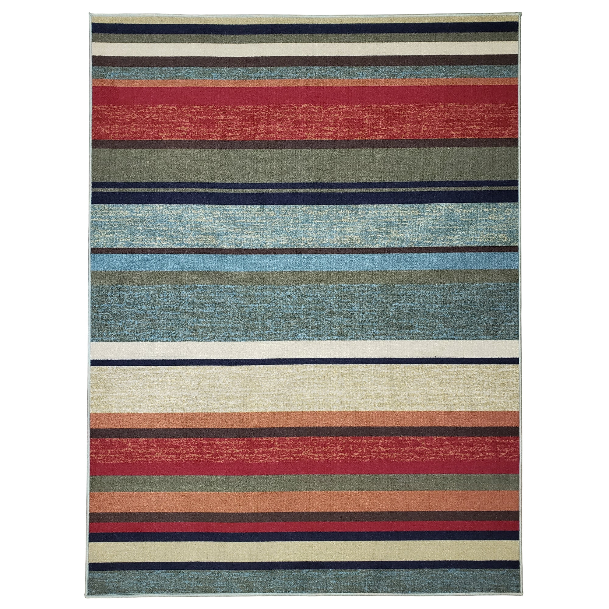 Belgio Rubber Backed Non Slip Rugs and Runners Multi Striped