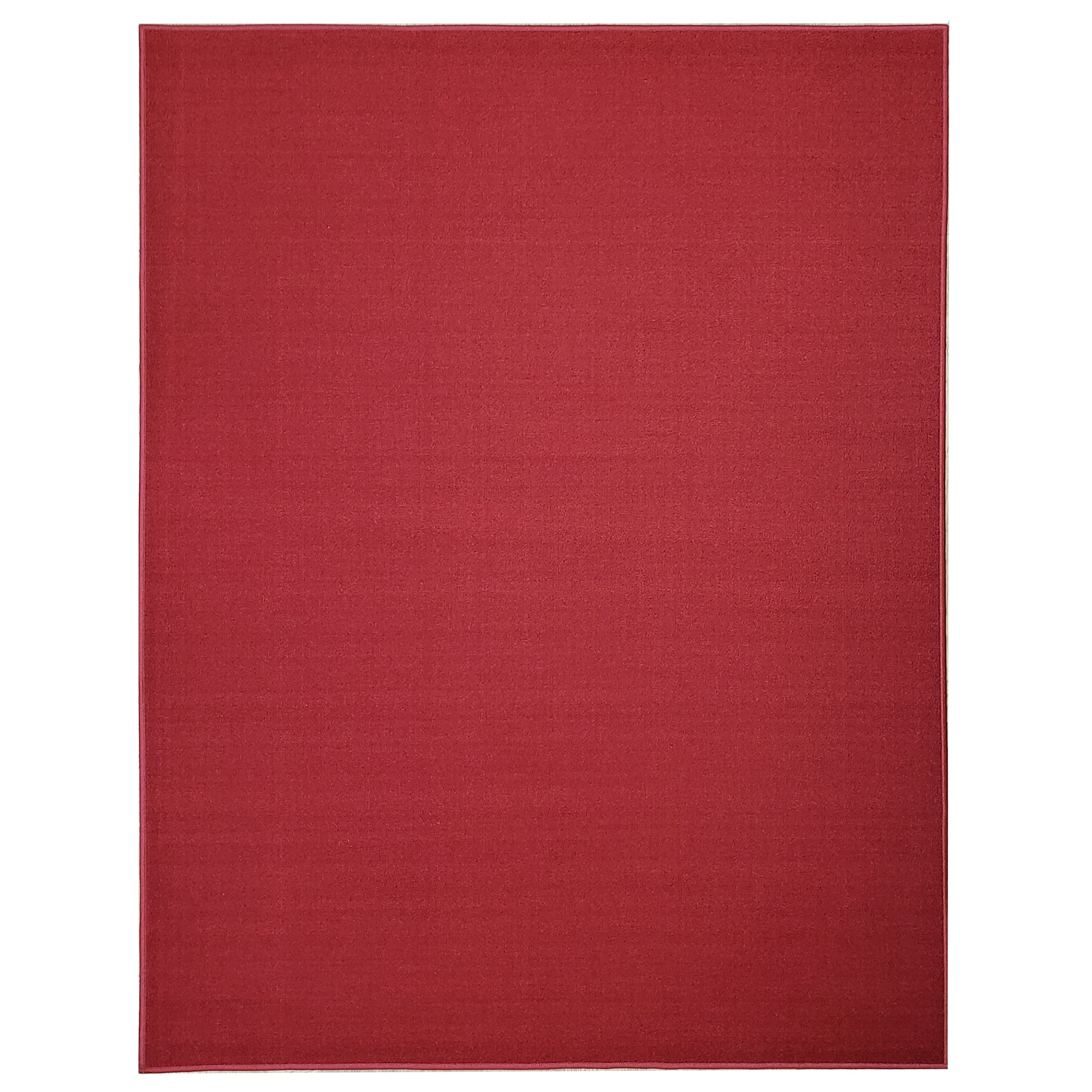Belgio Rubber Backed Non Slip Rugs and Runners Solid Red