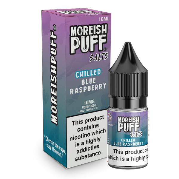 Moreish Puff Blue Raspberry Chilled Nic Salt 10ml TPD