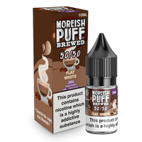 Moreish Puff Brewed 50/50: Flat White 10ml E-Liquid