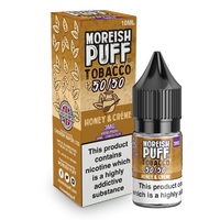Moreish Puff Tobacco 50/50: Honey and Cream Tobacco 10ml E-Liquid
