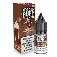 Moreish Puff Brewed 50/50: Mocha Frappe Latte 10ml E-Liquid