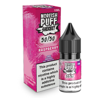 Moreish Puff Sherbet 50/50: Raspberry Sherbet 10ml E-Liquid
