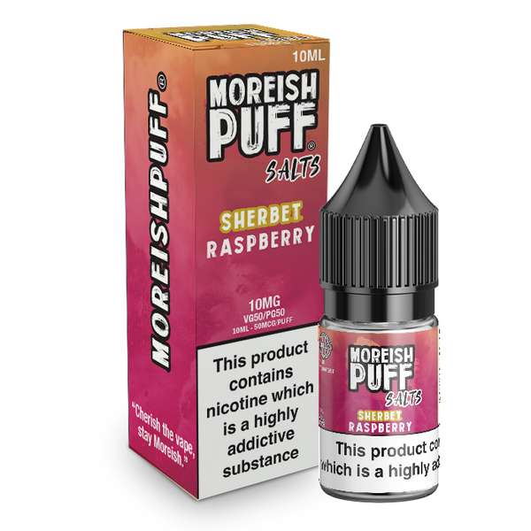 Moreish Puff Raspberry Sherbet Nic Salt 10ml TPD