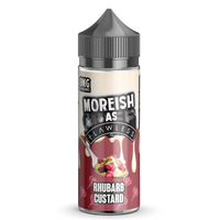 Moreish As Flawless Rhubarb Custard 100ml Short Fill E-Liquid