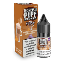 Moreish Puff Brewed 50/50: Salted Caramel Macchiato 10ml E-Liquid
