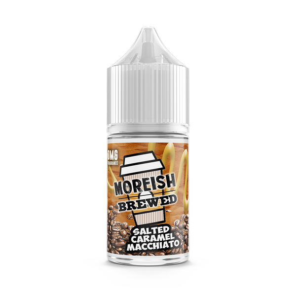 Salted Caramel Macchiato by Moreish Brewed 25ml Short Fill