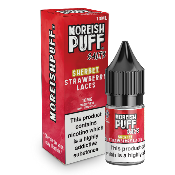 Moreish Puff Strawberry Laces Sherbet Nic Salt 10ml TPD