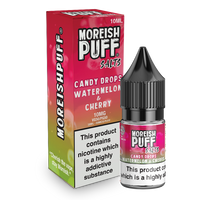 Moreish Puff Watermelon and Cherry Candy Drops Nic Salt 10ml TPD
