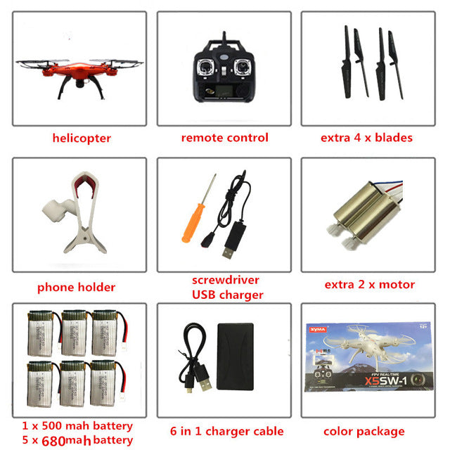 RC Quadcopter Drone with Camera