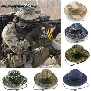 Camouflage Outdoor Hiking Wide Bucket Hats