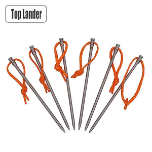 Titanium Tent Pegs Ultralight High Strength Tent Stakes
