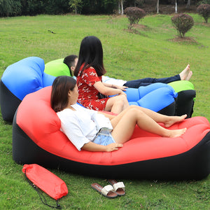 Lazy bag Inflatable Air Sofa Sleeping Pad