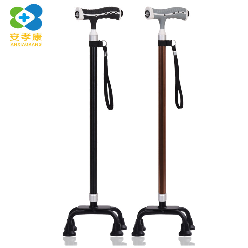 Lighted Telescopic T Handle Crutches Pole