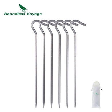 Outdoor 6pcs Titanium alloy Tent Pegs
