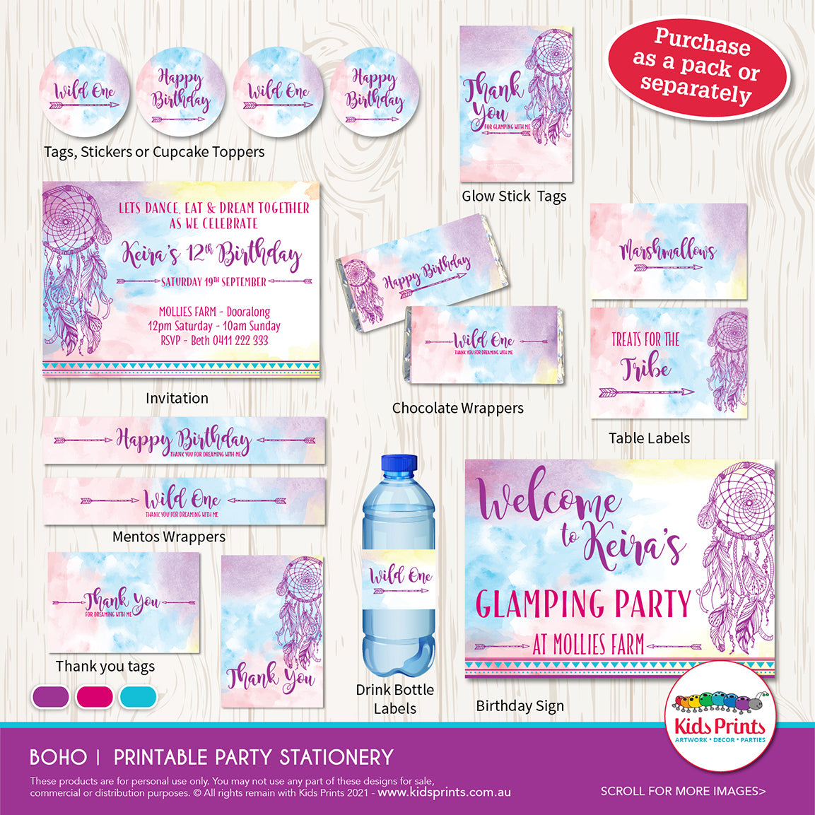 Boho Party | Party Printables - Kids Prints Online