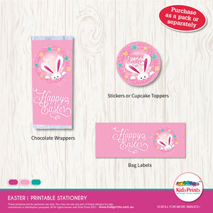 Easter Gift Printable - Stickers | Cupcake Toppers - Kids Prints Online