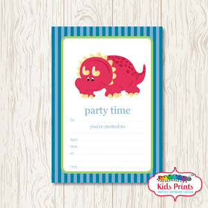 Dinosaur Printable Birthday Invitation - Kids Prints Online - kids wall art printable - nursery art printable - printable invitations - digital invitations - kids wall art - kids prints