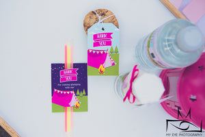 Glamping Party | Glow Stick Label - Kids Prints Online