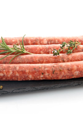 Lamb, Bush Tomato, Pepper-berry & Lemon Leaf Sausages