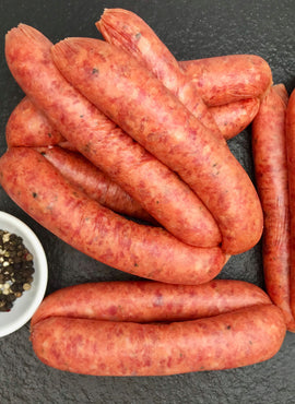 CRACKED PEPPER & WORCESTERSHIRE SAUSAGES