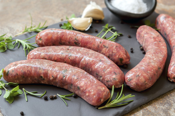 PORK, HONEY & ALMOND SAUSAGES