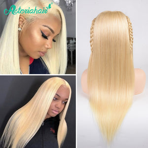 Asteria Hair Straight Hair 13x4 Lace Front Wigs Baby Hair #613 Blonde Color 8A Grade