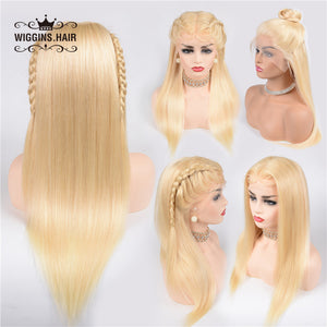 Wiggins Hair Straight Hair 13x4 Lace Front Wigs With Baby Hair #613 Blonde Color 8A Grade