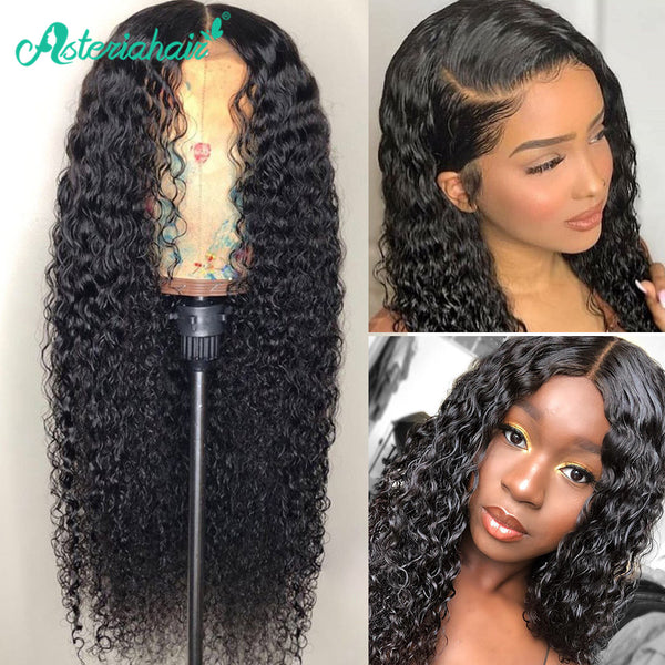 Asteria Deep Wave Human Hair Wig 13x4 Lace Front Wig With Baby Hair 8A Grade