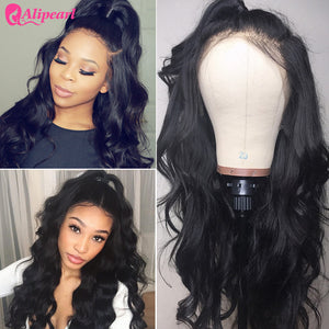 Alipearl Hair Body Wave Wigs 13x4 Lace Front Wigs With Baby Hair Pre-Plucked 8A Grade