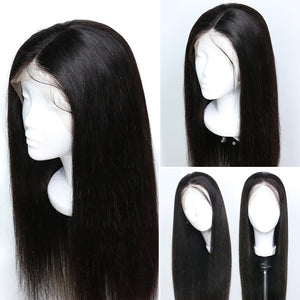 West Kiss Straight Human Hair 13x4 Lace Front Wigs Unprocessed Human hair Lace Wigs