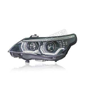 BMW 5 Series E60 Projector LED Headlamp 03-10 (3D Angle Eyes)