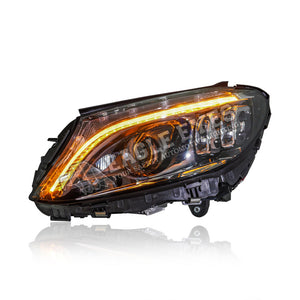 Mercedes Benz C-Class W205 Projector LED + Welcome Light Headlamp 05-19