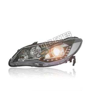 Honda Civic FD Projector LED Sequential Signal Headlamp 06-11 (U Led Ring)