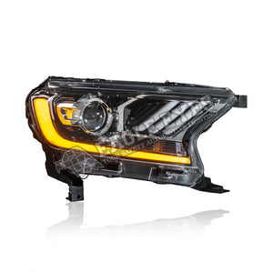 Ford Ranger T7 Projector LED Sequential Signal Headlamp 16-19