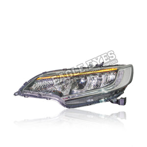 Honda Jazz GK5 LED Sequential Signal + One Touch Blue + Welcome Light Headlamp  13-19 (RS Style V4)