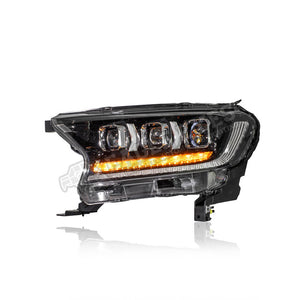 Ford Ranger T7 Full LED Projector Sequential Signal + One Touch Blue + Welcome Light Headlamp 16-19