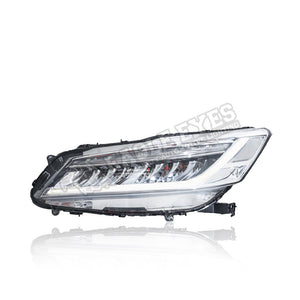 Honda Accord G9.5 LED Headlamp Sequential Signal+ One Touch Blue +Red Welcome Light 17-19